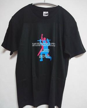 『ヌンチャクソウル』Tシャツ(A)黒