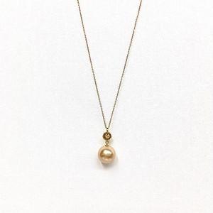 K18 ダイヤ&南洋真珠・ロングネックレス
