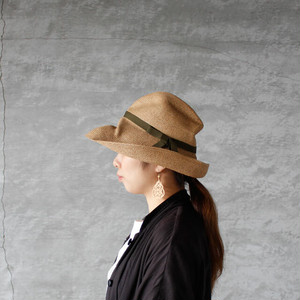 mature ha.(マチュアーハ)BOXED HAT 11cm brim mix brown × khaki 送料無料