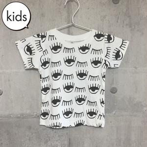 【送料無料】 Eyes Kids T-shirts S 目 柄 キッズ Tシャツ S
