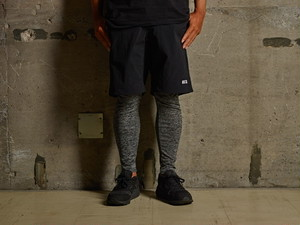 VEGETATION×NEWCURRENTWORKS MOVING SHORT PANTS BLACK