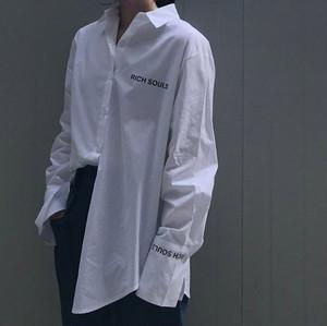 プリントロング丈シャツ