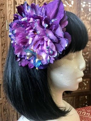 Flower hair ornament-Purple