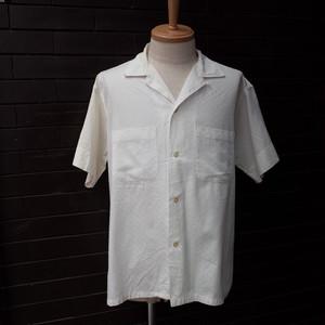 """60's """"VAN HEUSEN"""" Short Sleeve Open Collar Shirt White / 60年代 [ヴァン ヒューゼン] 半袖 開襟 シャツ ホワイト"""