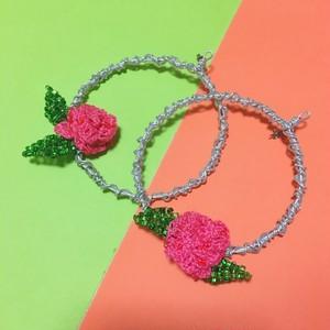 PINK ROSE MOTIF pierce or earring