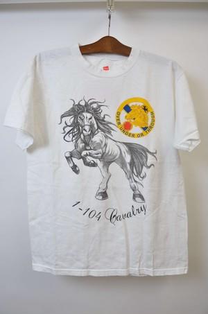 【Mサイズ】 HANES ヘインズ OVER UNDER OR THROUGH TEE ナショナルガード 半袖Tシャツ WHITE 400601190747
