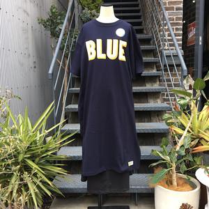 RUSSELL・BLUEBLUE 3Dロゴ ショートスリーブ ワンピース NAVY
