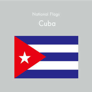 国旗ステッカー キューバ