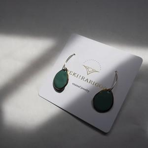 PEKI!RARIGON Wire Stone Earrings turquoise