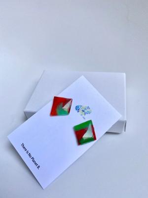 Kaeru Design~イヤリング Red x Green~