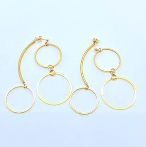 Brass earrings / Triple circle : ブラスイヤリング / トリプルサークル