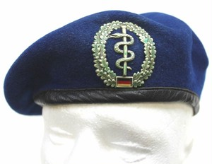 German Army Medical Corps Beret and Badge