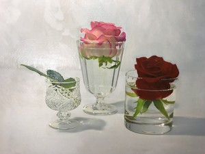 "Kazuya USHIODA   ""Roses and Glass"""