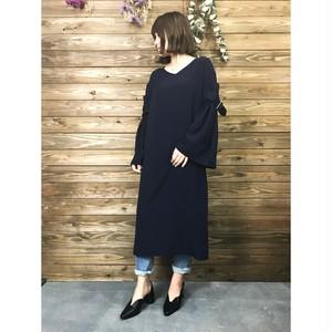 切り替えデザインスリーブワンピース【&mode】