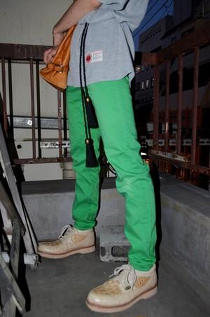 70's color skinny pants