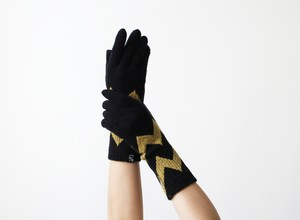 % PERCENT 手袋(FIT:ブラック・イエロー)指暖・セルフヒーター・ホールガーメント・裏起毛・スマホ対応・ギフト箱付き(男女兼用フリーサイズ)