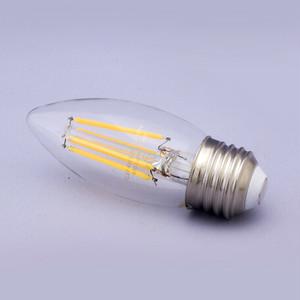 LEDフィラメント電球【4W/E26水雷型シャンデリア電球】