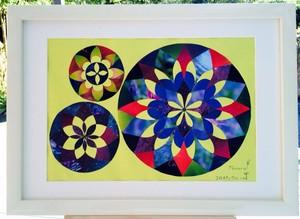 「星々のたわむれ」Poccuruの貼り絵作品