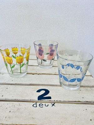 花柄ガラスタンブラー 3種