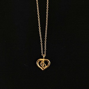 "DIOR ""Heart×Logo"" Necklace"
