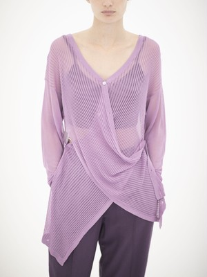 2WAY SHEER KNIT CARDIGAN