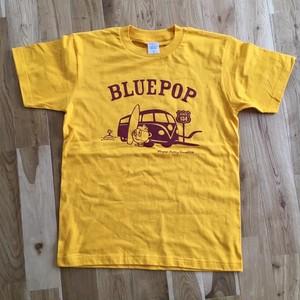 ブルーポップ車Tシャツ(マスタード)半袖 ヘビーウエイト