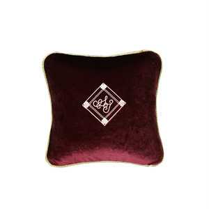 Velvet Cushion 30×30 wine red