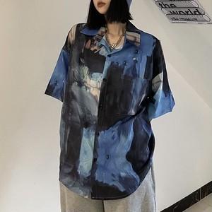 アートプリントルーズシャツ RD8639