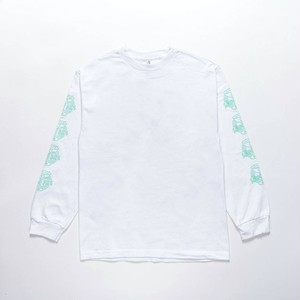"""DANCING IN THE NEON LIGHT"" L/S T-Shirts WHITE"