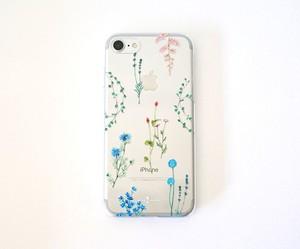 クールな花たちのiPhoneクリアケース
