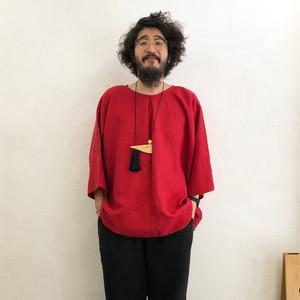 RainbowFam / Pablo Shirt - Long   Red
