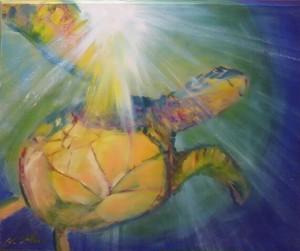 『光と共に』油絵
