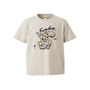 sumika / 地図Tシャツ(オートミール)