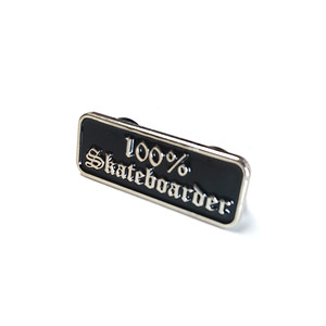 HARD LUCK - 100% Skateboarder LAPEL PIN
