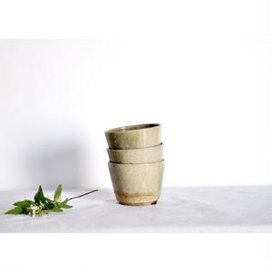 うつわ屋まる【そば猪口- 緑灰 half -】hand made / 笠間焼 / japan /猪口 / ぐい呑み / フリーカップ