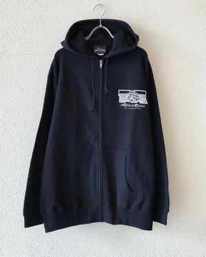 """【19046】ZIP HOODIE """"AxTxR"""" (BLACK)"""