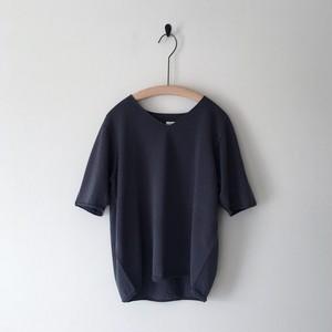【 miho umezawa 】COTTON LINEN half sleeve pullover