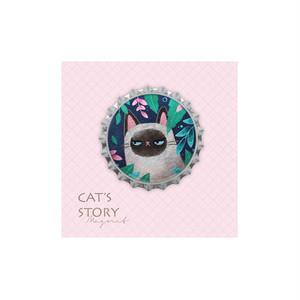 猫 王冠型マグネット(祝福喵子)