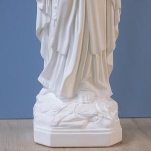 ルルドの聖母像【39cm】室内用白色仕上げ
