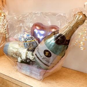 シャンパン&グラス&ハッピーアニバーサリー