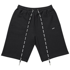 LOGO REPEAT SWEATSHORTS (BLACK)