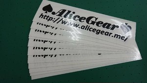 AliceGear Sticker BK Large