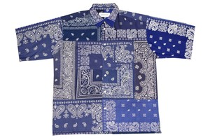 NAVY-3- BANDANA shortsleeve shirt