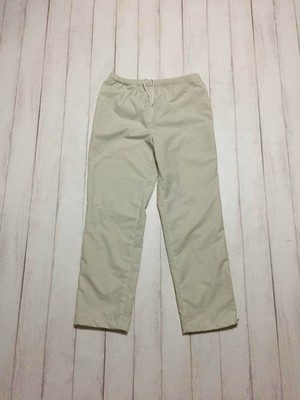 side zip nylon pants / offwhite