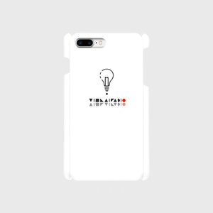 【8Plus,7Plus】ロゴ(文字入り)iPhoneケース白