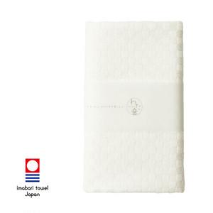 わた音 しゅす織り フェイスタオル/オフホワイト