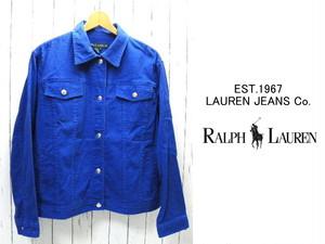 海外入手品 アメリカンサイズ LAUREN JEANS Co(ローレンジーンズ) ブルー系Gジャン|サイズ:2X(日本:2Lサイズ程度)|