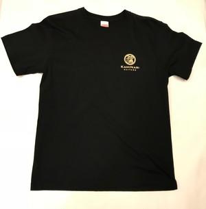 KAMINARI PINSTRIPE T-shirts white logo