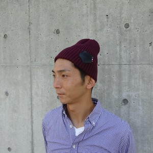 【UNISEX】Knit Cap (BORDEAUX) / item cord: B1712-BORDEAUX