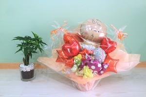出産のお祝いに卓上バルーンギフトウェルカムベビーガールB(バルーンアレンジ) 送料込み  引き取りの場合5,800円